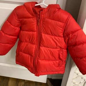 Toddler Old Navy Red Puffer Jacket
